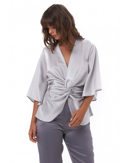 MARCIA TOP IN SILVER