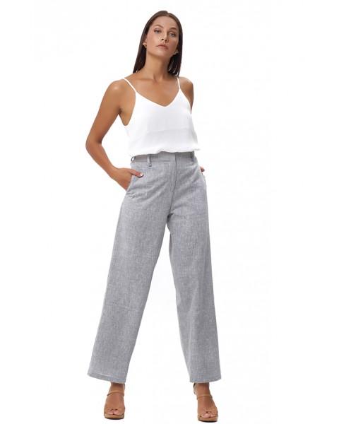 STAVRA PANTS IN LINEN BLUE