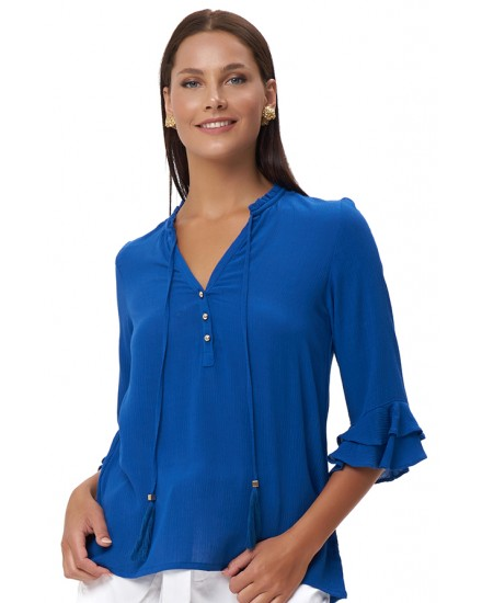 MYLOS TOP IN BLUE