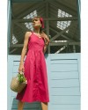 NAKITA DRESS IN FUCHSIA