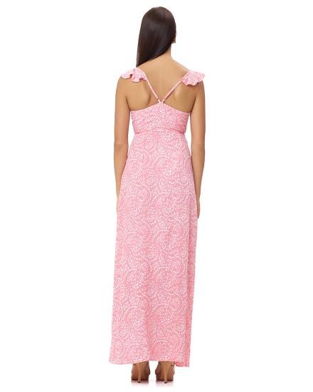 AMBROSIA DRESS IN FIRA ROSE
