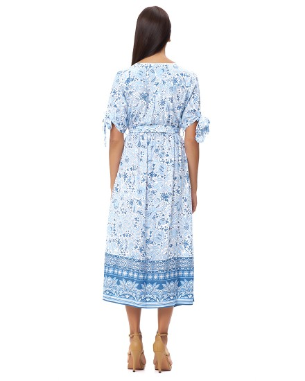 PERIVOLOS DRESS IN IMEROVIGLI CORNFLOWER BLUE