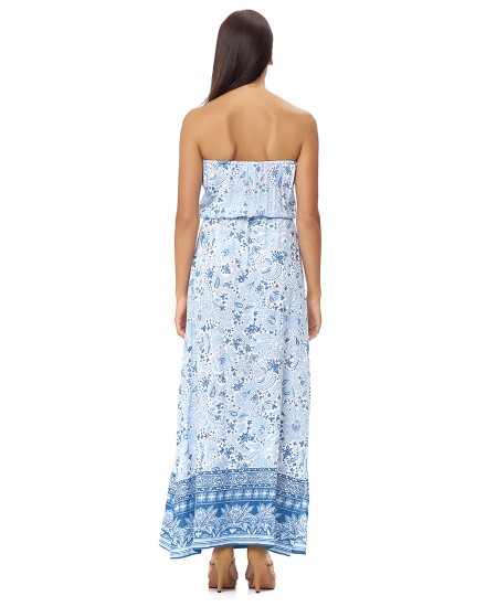 THIRA DRESS IN IMEROVIGLI CORNFLOWER BLUE