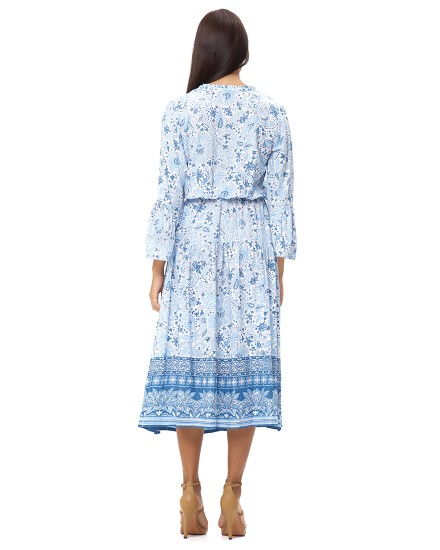 KAVALARI DRESS IN IMEROVIGLI CORNFLOWER BLUE