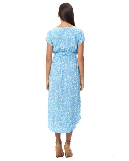 ATRINA DRESS IN FIRA BABY BLUE