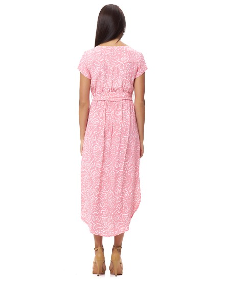 ATRINA DRESS IN FIRA ROSE