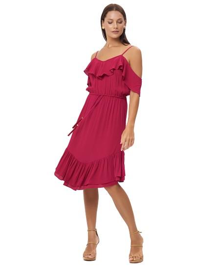 VASILIA DRESS IN FUCHSIA