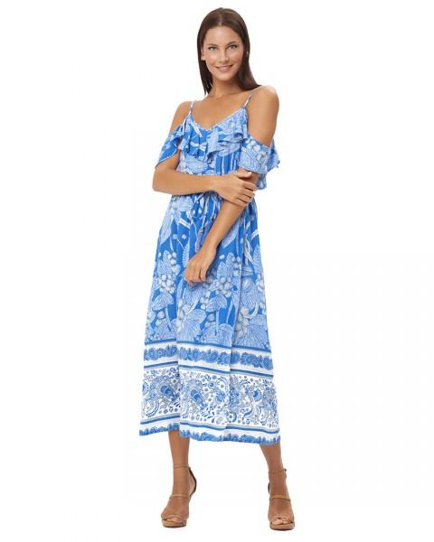 PARALIA DRESS IN OIA COBALT BLUE