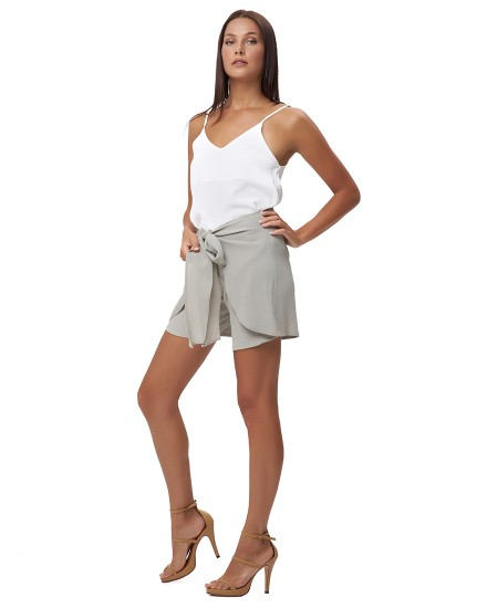 TOULA SHORTS IN DUSTY GREY