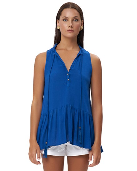 ANOGI TOP IN BLUE
