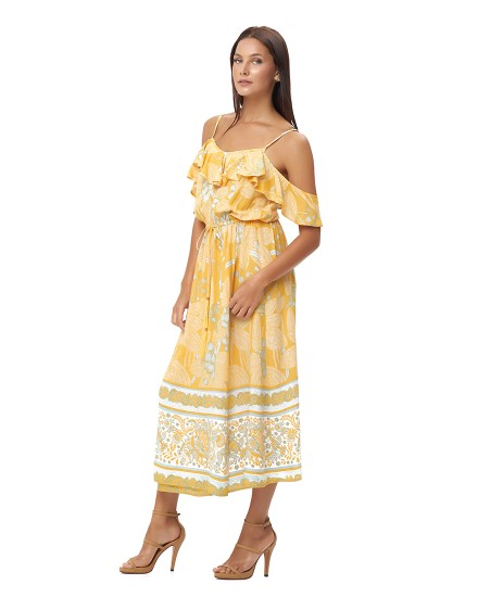 PARALIA DRESS IN OIA APRICOT