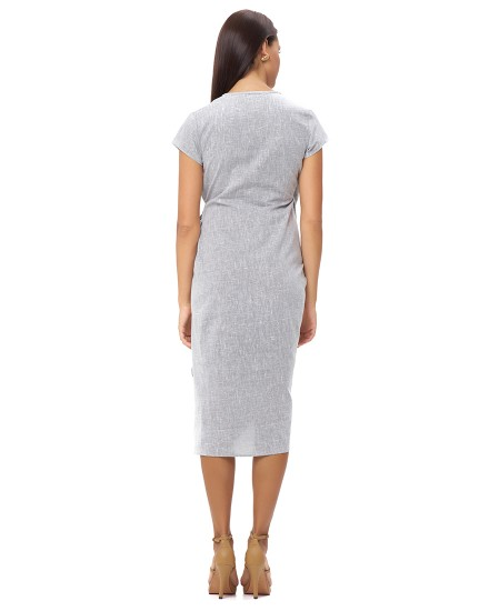OBELIA DRESS IN LINEN GREY