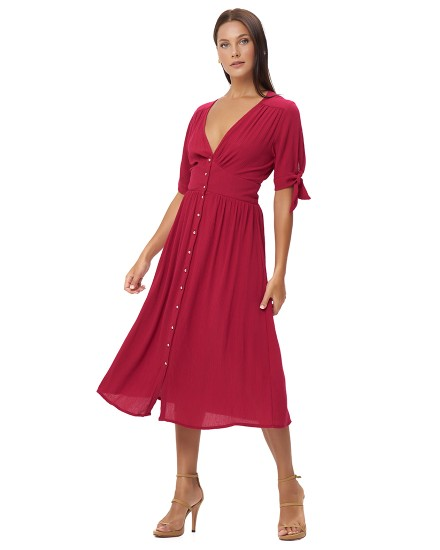 THEODORA DRESS IN FUCHSIA