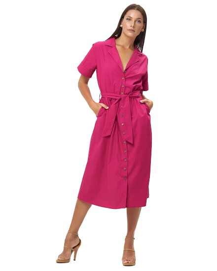 PETRA DRESS IN FUCHSIA