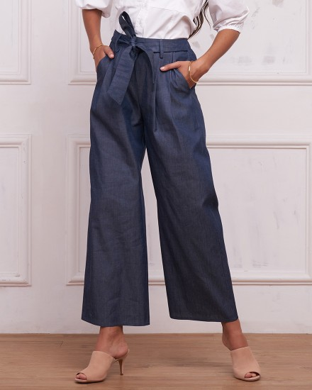 KELLY PANTS IN DENIM BLUE
