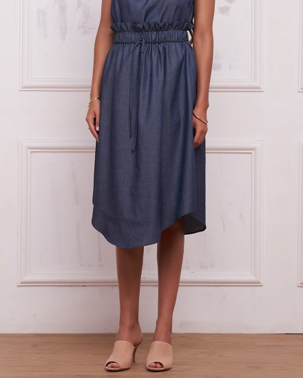 AMELIE SKIRT IN DENIM BLUE
