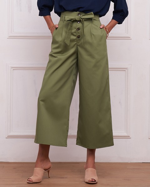 CHLOE CULOTTES IN OLIVE