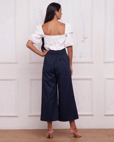 CHLOE CULOTTES IN NAVY