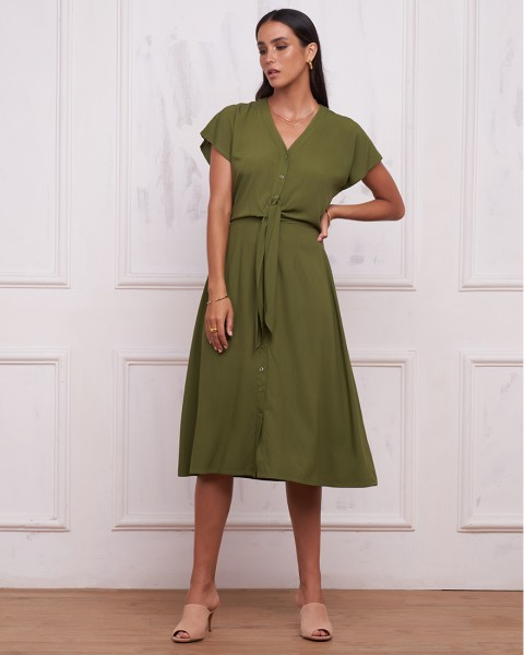 MILLY DRESS IN OLIVE
