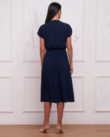 MILLY DRESS IN NAVY
