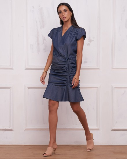 LEXI DRESS IN DENIM BLUE