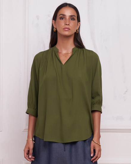 CHAYA TOP IN OLIVE