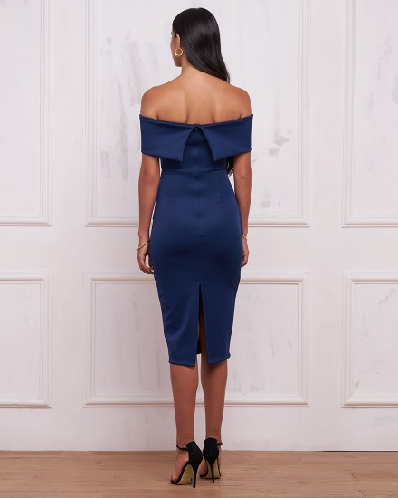 REGINA DRESS IN NAVY