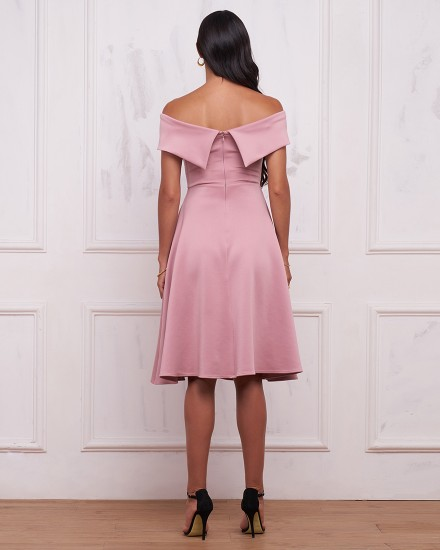 REBECCA DRESS IN DUSTY ROSE