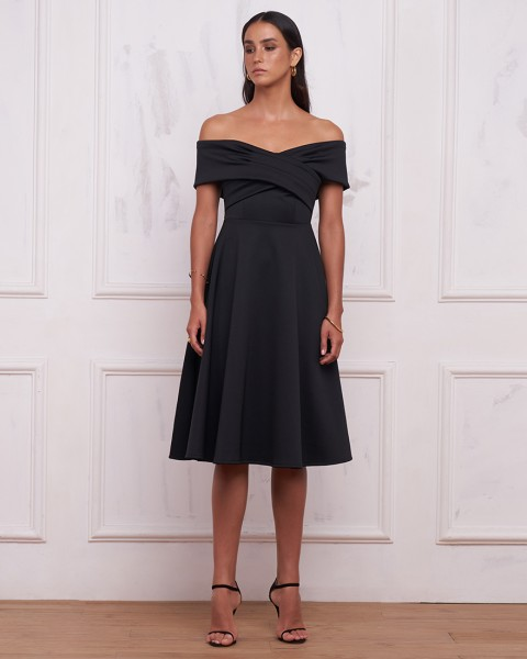 REBECCA DRESS IN BLACK