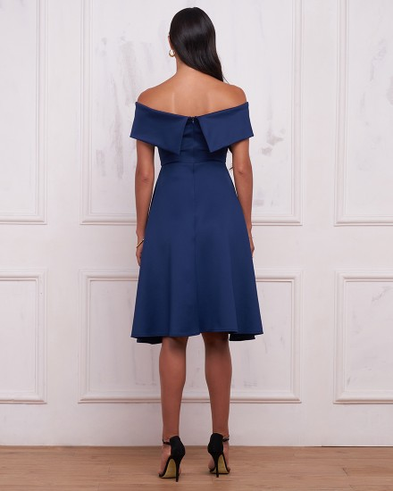 REBECCA DRESS IN NAVY