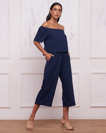 TANAYA JUMPSUIT IN NAVY