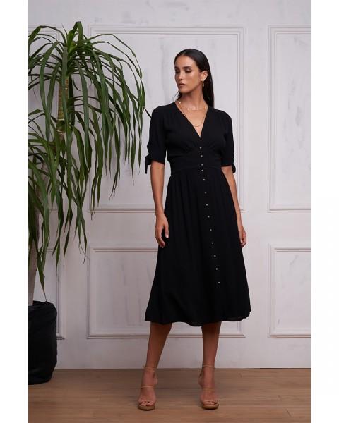 THEODORA DRESS IN BLACK