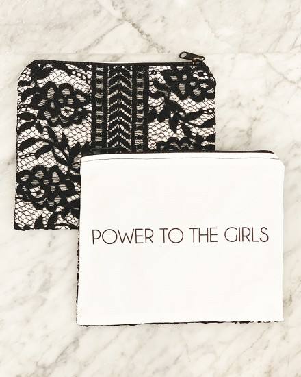 LACE POUCH – POWER TO THE GIRLS