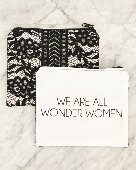 LACE POUCH – WE ARE ALL WONDERWOMEN