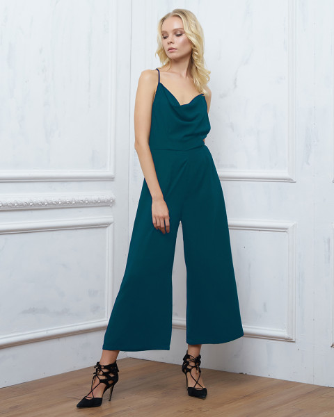 DELANEY JUMPSUIT IN DARK TEAL