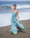 THIRA DRESS IN FLORAL ROSE BLUE