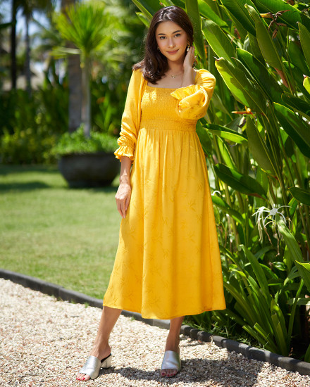 AYLIN DRESS IN YELLOW