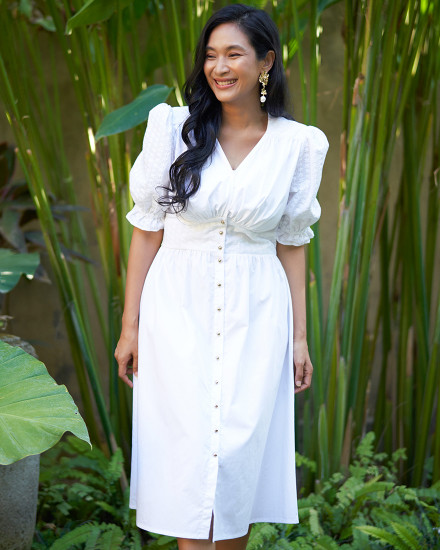 NADIYE DRESS IN WHITE