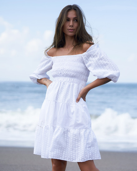 YASMINE DRESS IN WHITE
