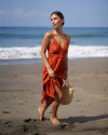 OZLEM DRESS IN TERRACOTTA