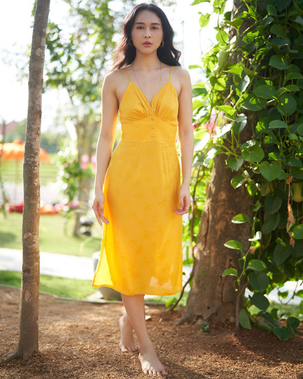 OZLEM DRESS IN YELLOW