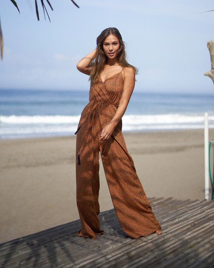 KISMET JUMPSUIT IN TERRACOTTA DOT