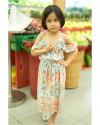 CAISRA DRESS IN FLORAL ROSE MANDARIN
