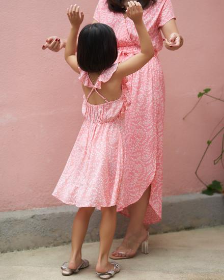 KINA DRESS IN FIRA ROSE