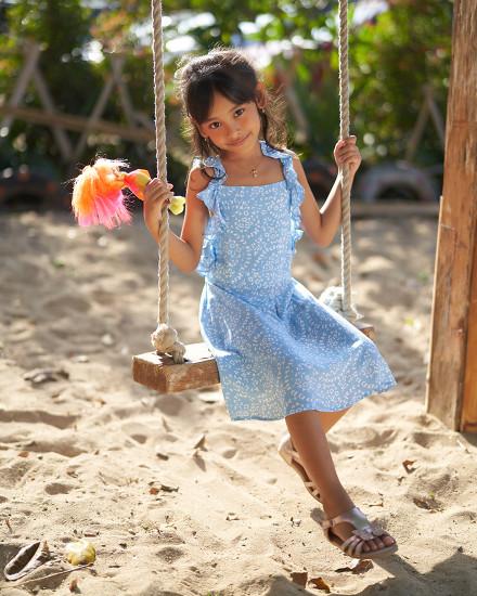 KINA DRESS IN FIRA BABY BLUE