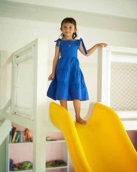 ELLA DRESS IN COBALT BLUE