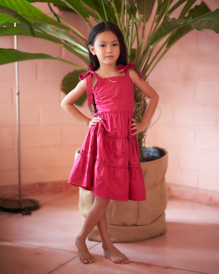 ELLA DRESS IN FUCHSIA