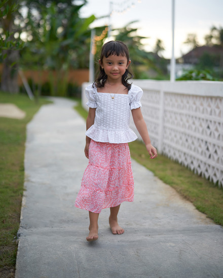 EMMA SKIRT IN FIRA ROSE