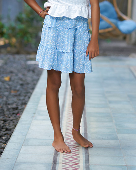 EMMA SKIRT IN FIRA BABY BLUE