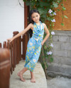 MIMI TOP IN FLORAL ROSE BLUE
